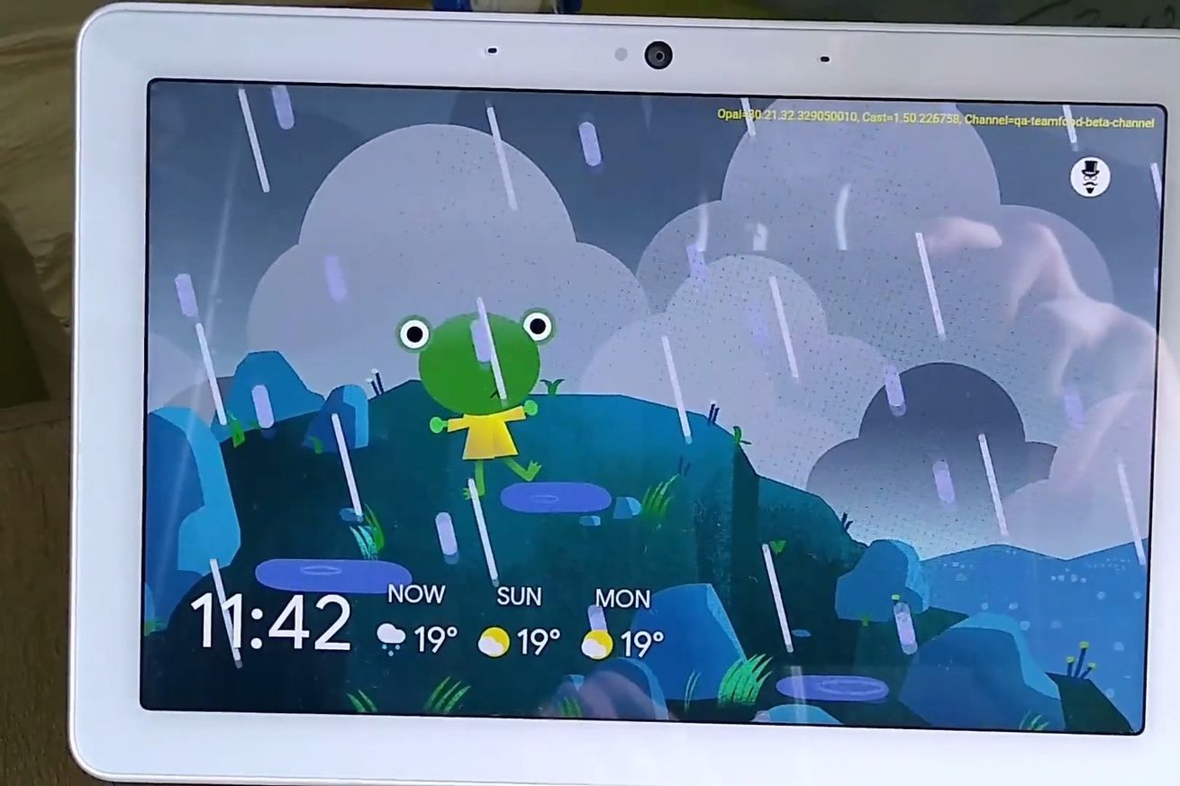 Google's weather frog spotted on smart displays