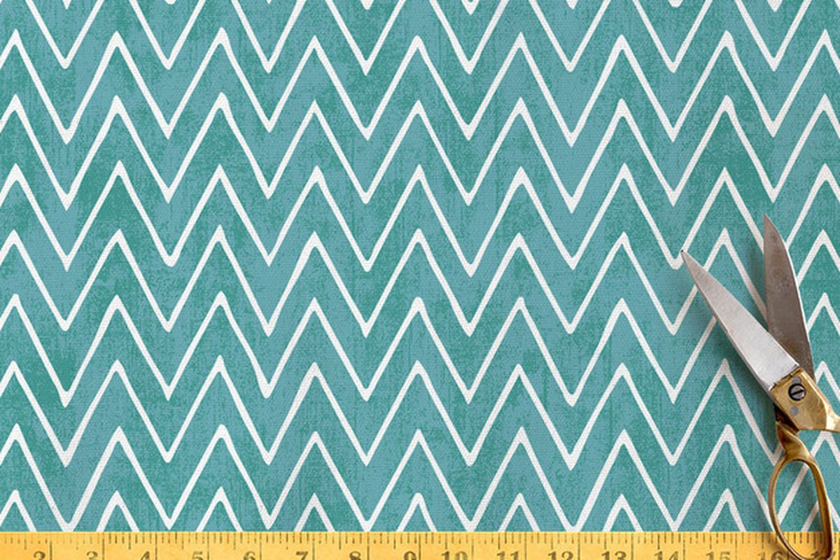 """This chevron-patterned fabric from Berkeley-based <a href=""""http://www.minted.com/store/hooraycreative"""">Hooray Creative</a> is now available on <a href=""""http://www.minted.com/product/fabric/MIN-EH2-NFC/watercolor-chevron?ccId=305461&amp;org=title"""">Mi"""