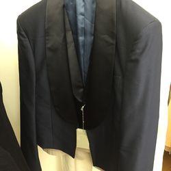 Navy jacket, $211 (was $2,110)