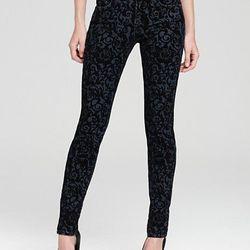 "<b>J Brand</b> Mid Rise 811 Skinny Jeans in Black Brocade, <a href=""http://www1.bloomingdales.com/shop/product/j-brand-jeans-mid-rise-811-skinny-in-black-brocade?ID=627090&PseudoCat=se-xx-xx-xx.esn_results"">$242</a> at Bloomingdale's"