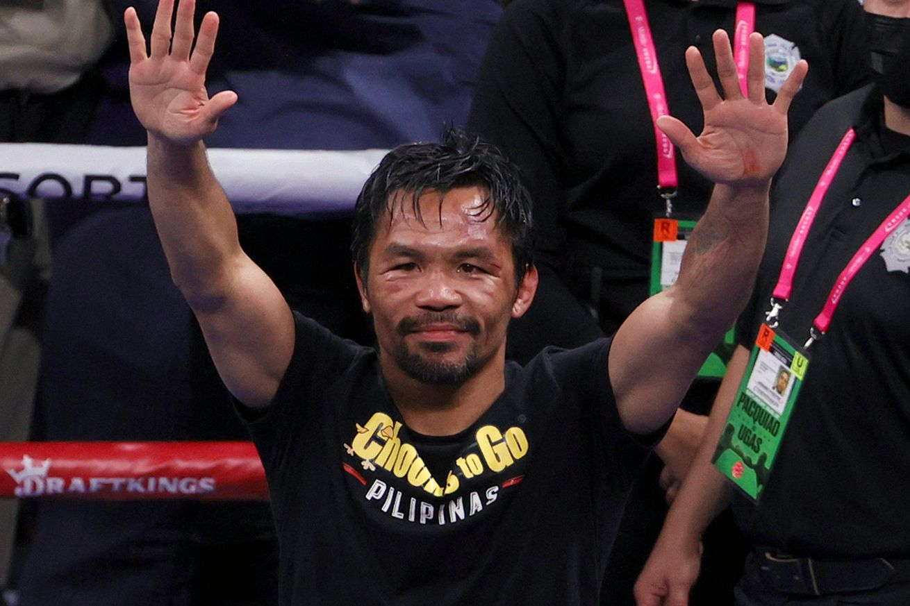 <label itemprop='headline'><a href='https://www.mvpboxing.com/news/boxing/1632071405/Pacquiao-accepts-nomination-will-run-for-president?ref=headlines' itemprop='url' class='headline_anchor news_link'>Pacquiao accepts nomination, will run for president in the Philippines</a></label><br />Photo by Ethan Miller/Getty Images  Is Pacquiao's fighting career now officially over? Senator M