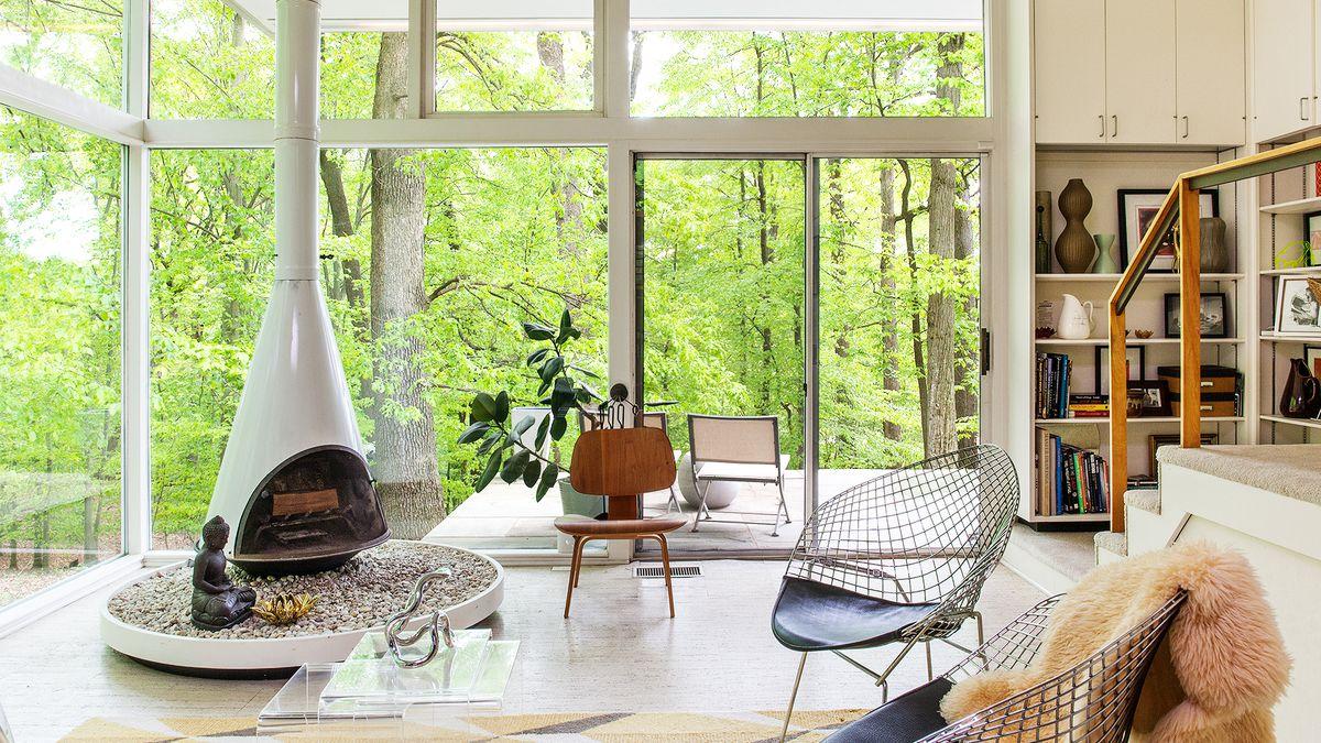 midcentury modern house interior