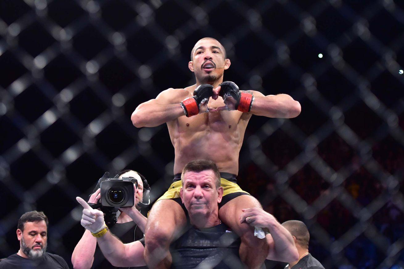 Jose Aldo defeated Renato Moicano via second-round TKO in Fortaleza, Brazil.