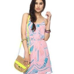 """<a href=""""http://www.forever21.com/Product/Product.aspx?BR=f21&Category=dress_casual&ProductID=2076806927&VariantID=""""> Forever21 abstract print dress with belt</a>, $19.80 forever21.com"""