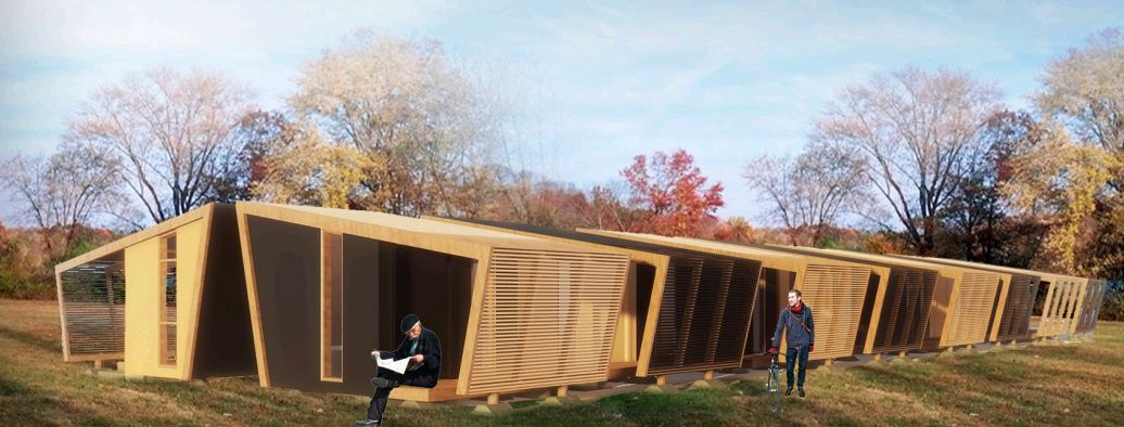 "One of the Genslder designs for San Jose ""tiny homes."""