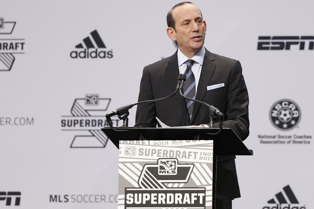 Which team will Don Garber call first in the 2014 MLS SuperDraft?