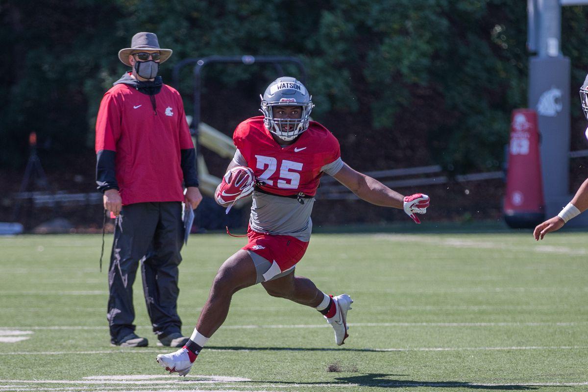 Washington State University Football Fall Practice 9 - Nakia Watson (25)