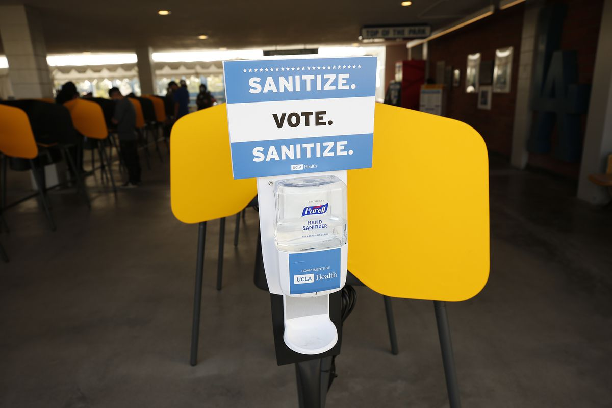 People voting on election Tuesday in downtown Los Angeles