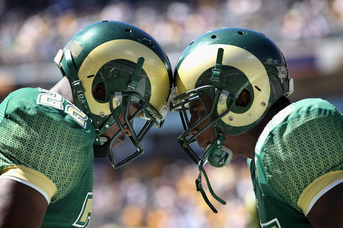 The Colorado State Rams highlight the 2011 UTEP Miners home football slate.    (Photo by Doug Pensinger/Getty Images)