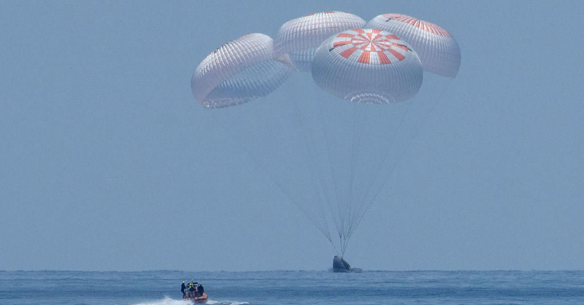 SpaceX's Crew Dragon successfully returns NASA astronauts back to Earth