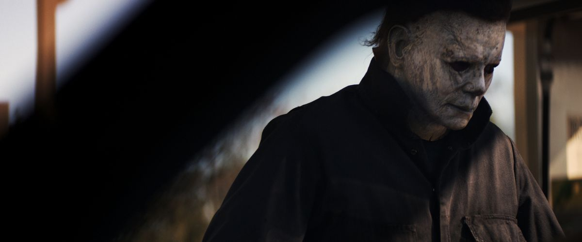 The masked Michael Myers in the 2018 film Halloween.