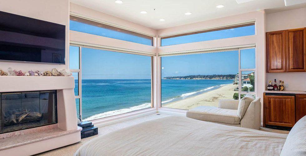 Bedroom With Huge Windows Pink House