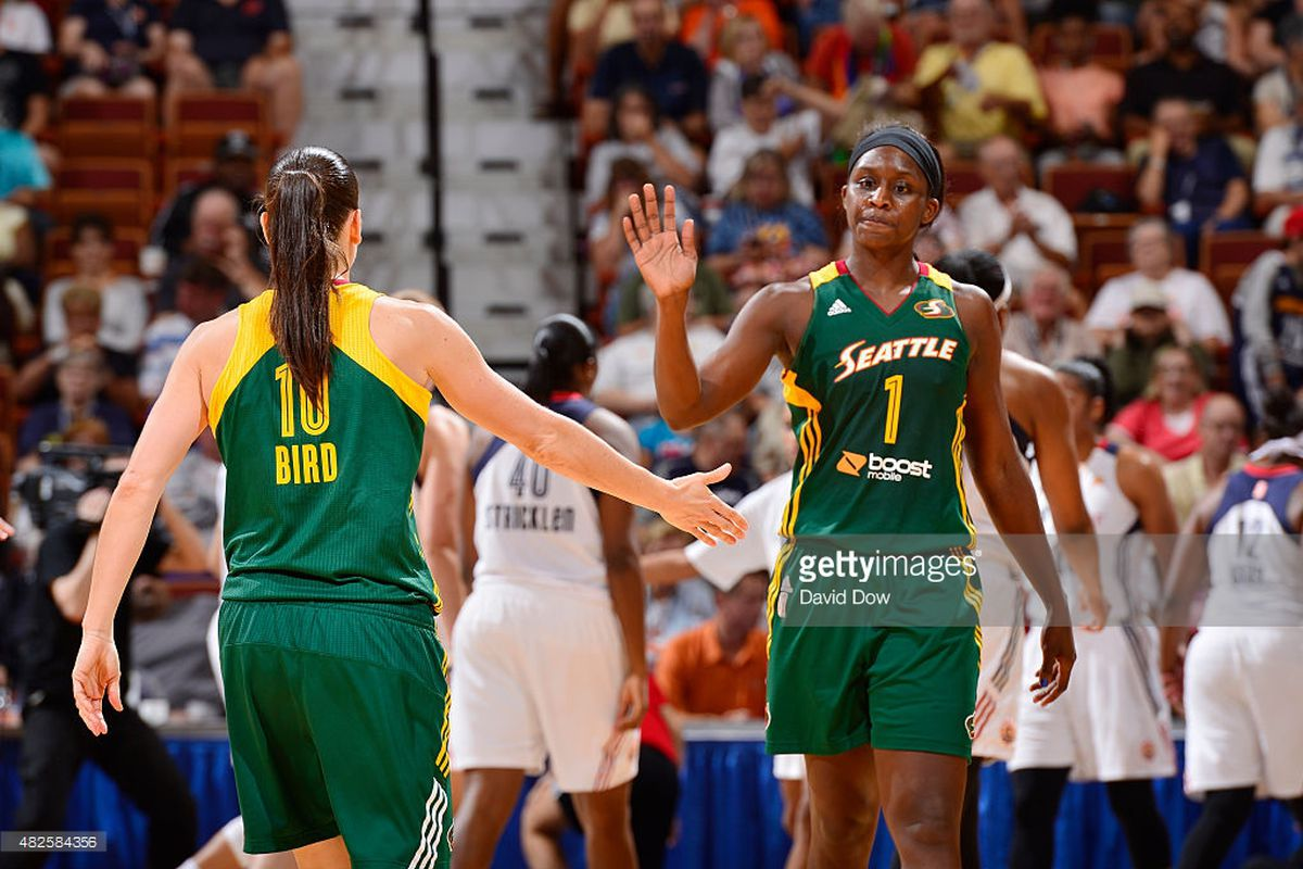 Crystal Langhorne happy to be back and playing another season with Sue Bird