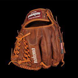 "<strong>Nokona</strong> Modified Trap Left Baseball Glove in Walnut, <a href=""http://unionmadegoods.com/product/giftshop-nokona-modified-trap-left-baseball-glove-in-walnut/"">$280</a> at Unionmade"