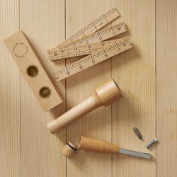"Areaware Wood Tool Set, <a href=""http://www.westelm.com/products/mrk-areaware-wood-tool-set-d398/?pkey=e%7Careaware%2Bwood%2Btool%2Bset%7C1%7Cbest%7C0%7C1%7C24%7C%7C1&cm_src=PRODUCTSEARCH||NoFacet-_-NoFacet-_-NoMerchRules-_-""> $95</a>"