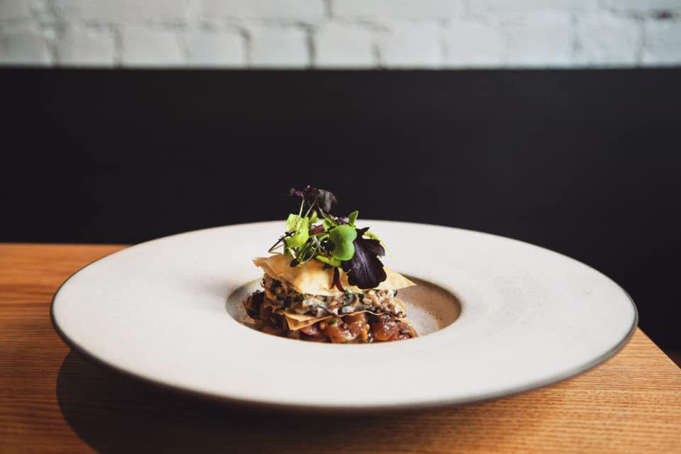 plate with tuna tartar