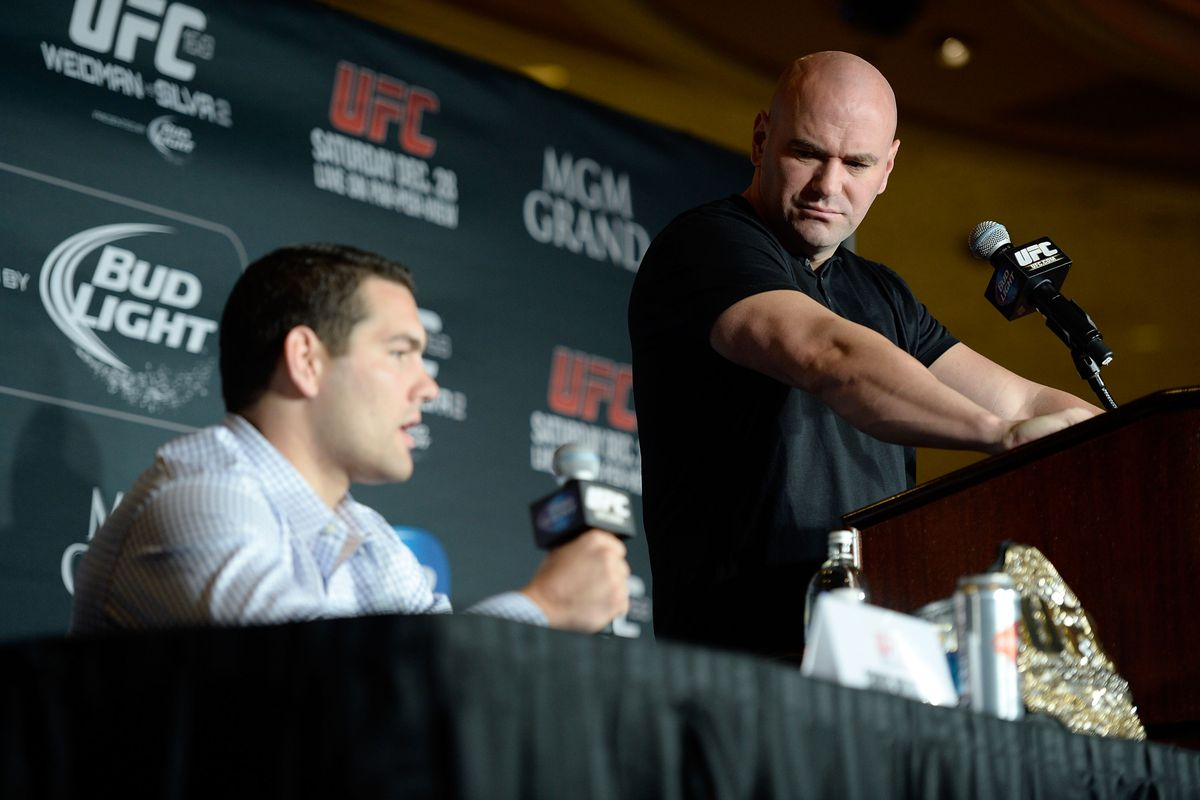 Dana White says he needs to have a 'conversation' with Chris Weidman about retirement