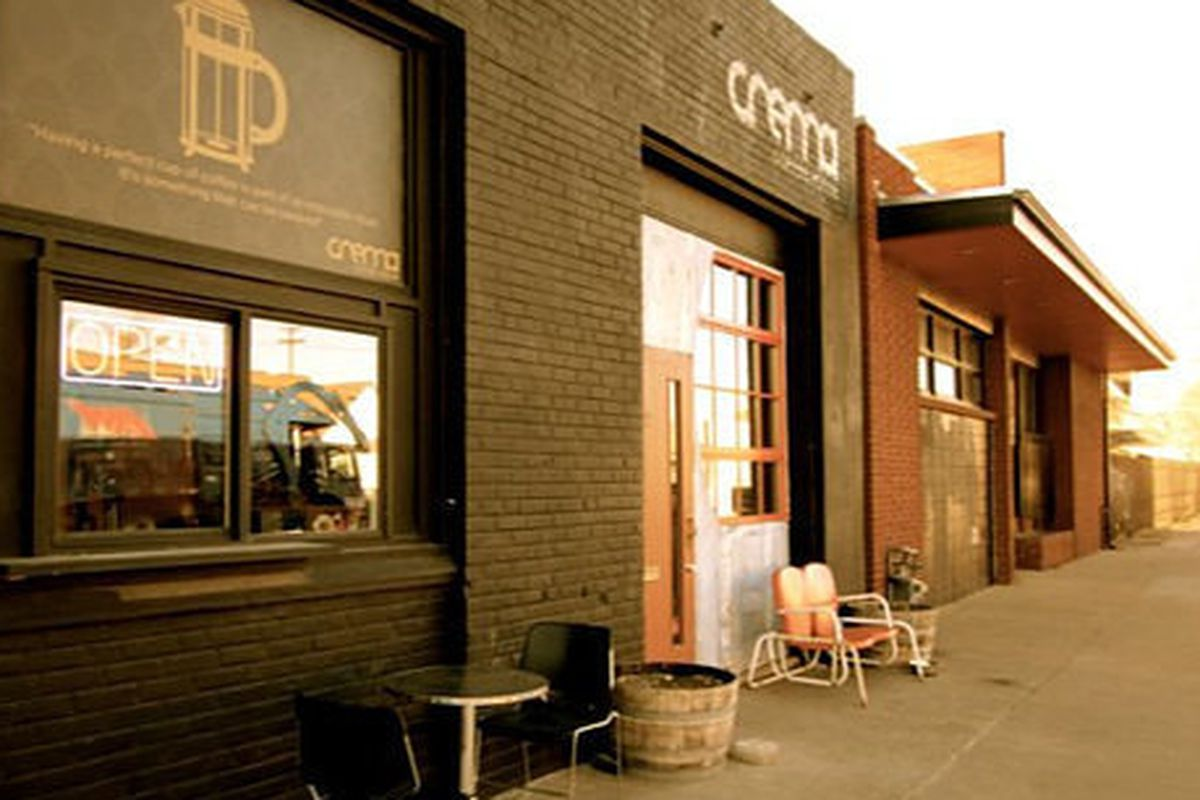 Crema Coffeehouse in Denver, CO.