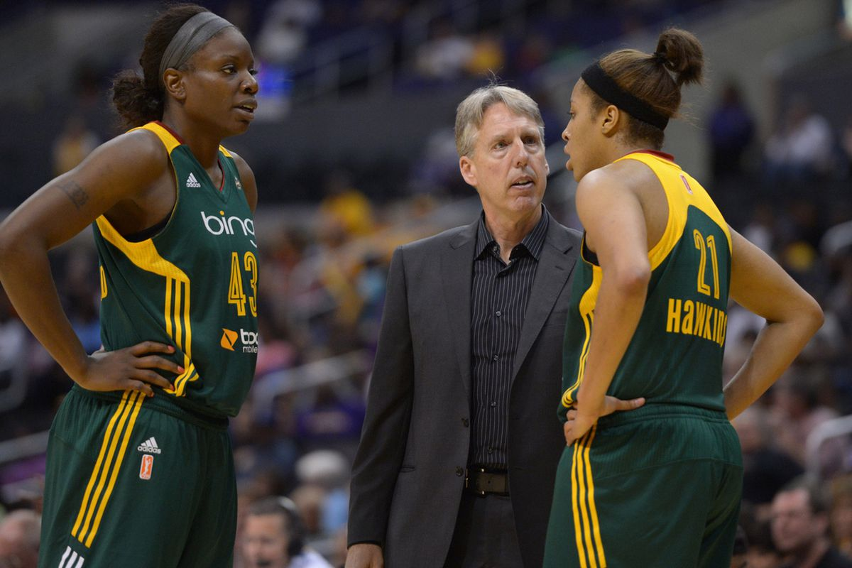 Though veterans like Nakia Sanford (L) will still be a major part of the team's season, the Seattle Storm will have to depend on younger players like Tianna Hawkins (R) in order to have a foundation for a successful future.