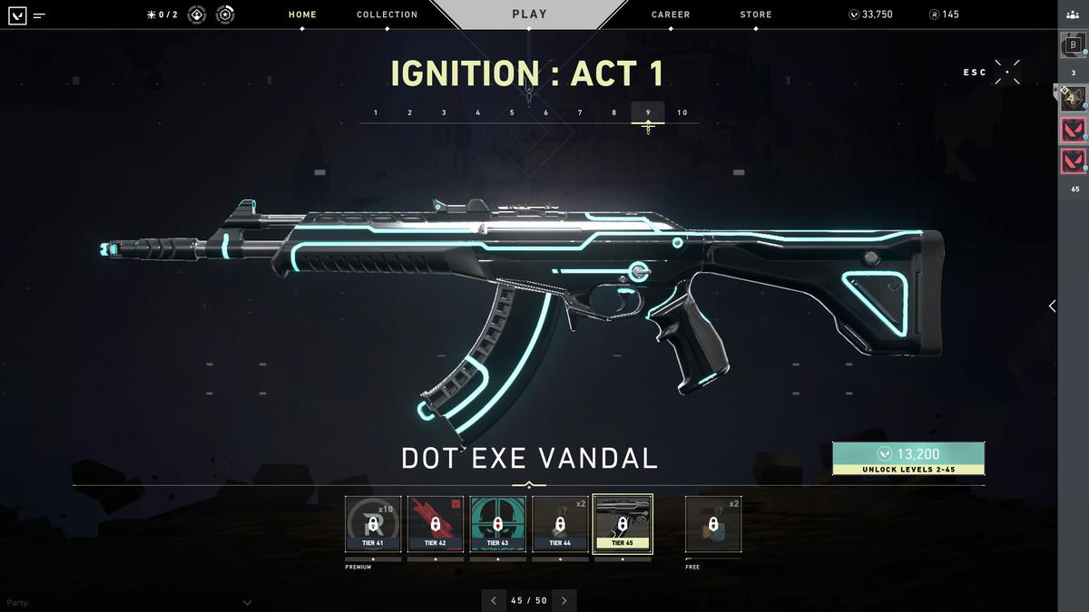 Valorant's Dot Exe Vandal skin