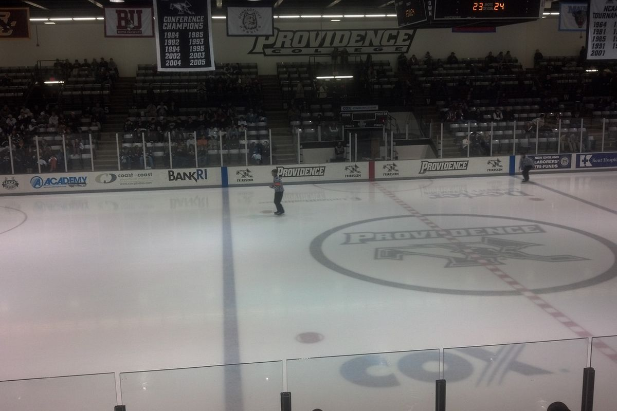 Schneider Arena will be the site of tonight's crucial Hockey East match-up between UMass-Lowell and Providence.