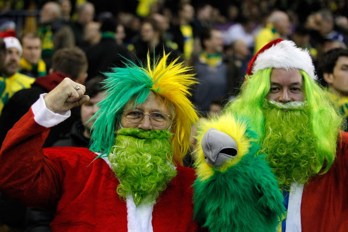 For No Reason At All Here Are Some Norwich City Supporters Theyre Into The Holidays Paul Thomas
