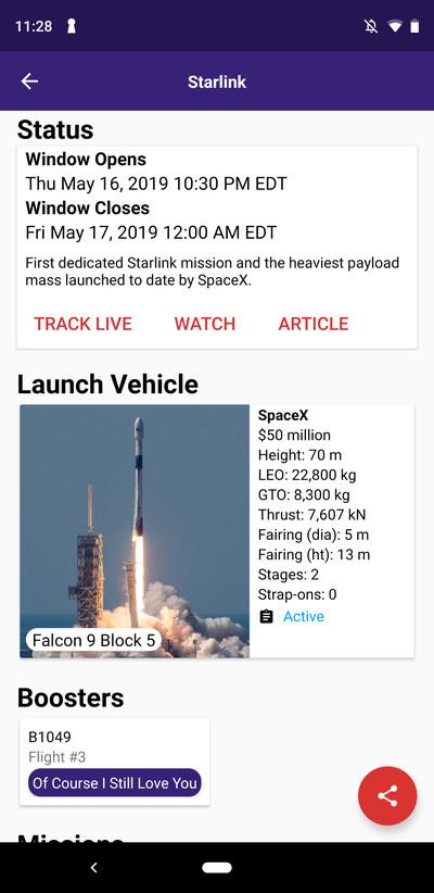 Next Spaceflight launch