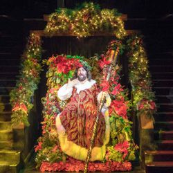 """The Ghost of Christmas Present in Hale Centre Theatre's 2016 production of """"A Christmas Carol."""""""