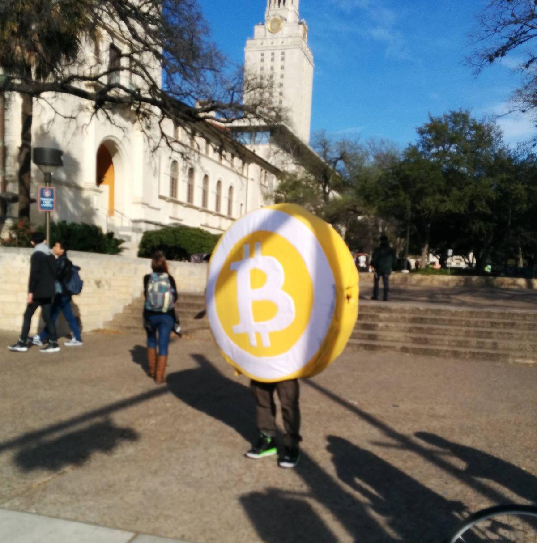 Mr Bitcoin mascot