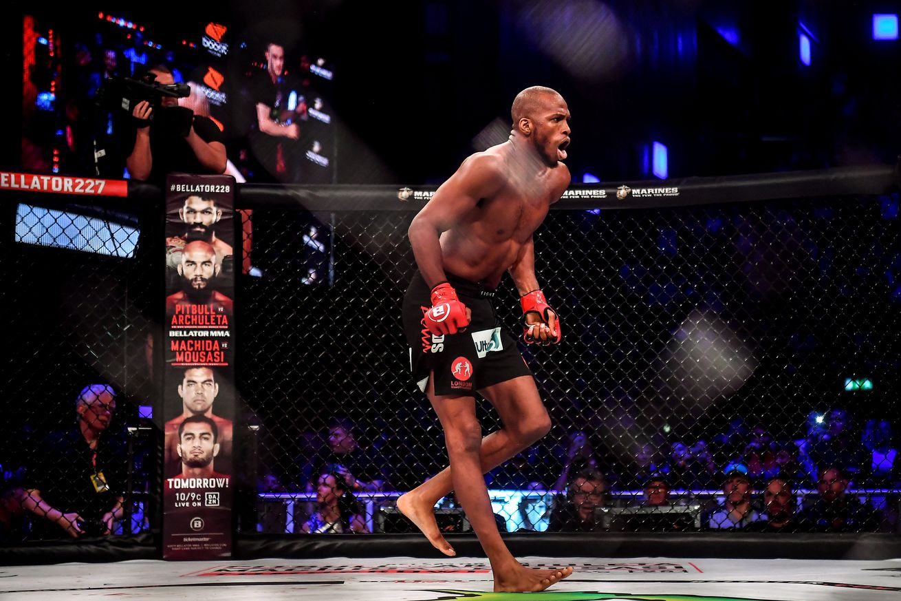 Michael Page after defeating Richard Kiely at Bellator 227