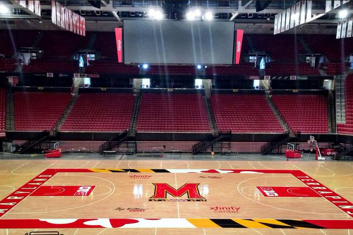 Maryland Madness will be the first chance for many to see the new court design at the XFINITY Center