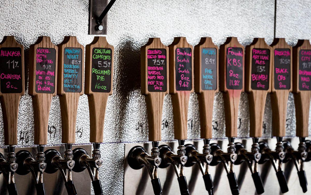 Beer taps at Barleygarden.
