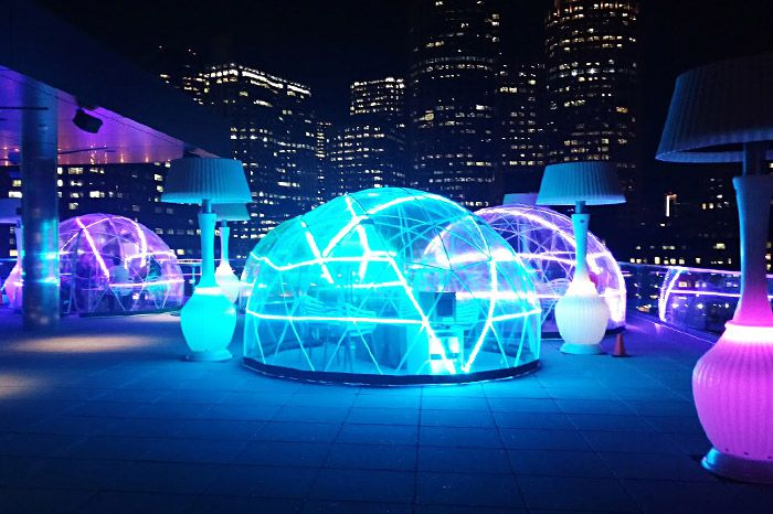 Envoy Hotel Lookout Rooftop and Bar igloos