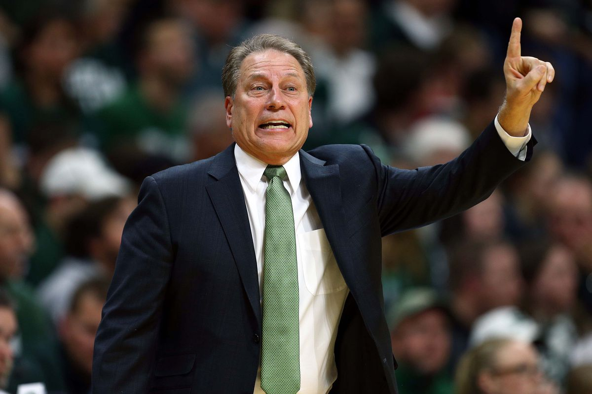 Coach Tom Izzo of Michigan State at a game in East Lansing