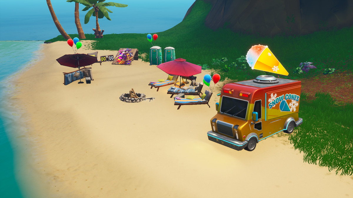 A Fortnite Beach Party