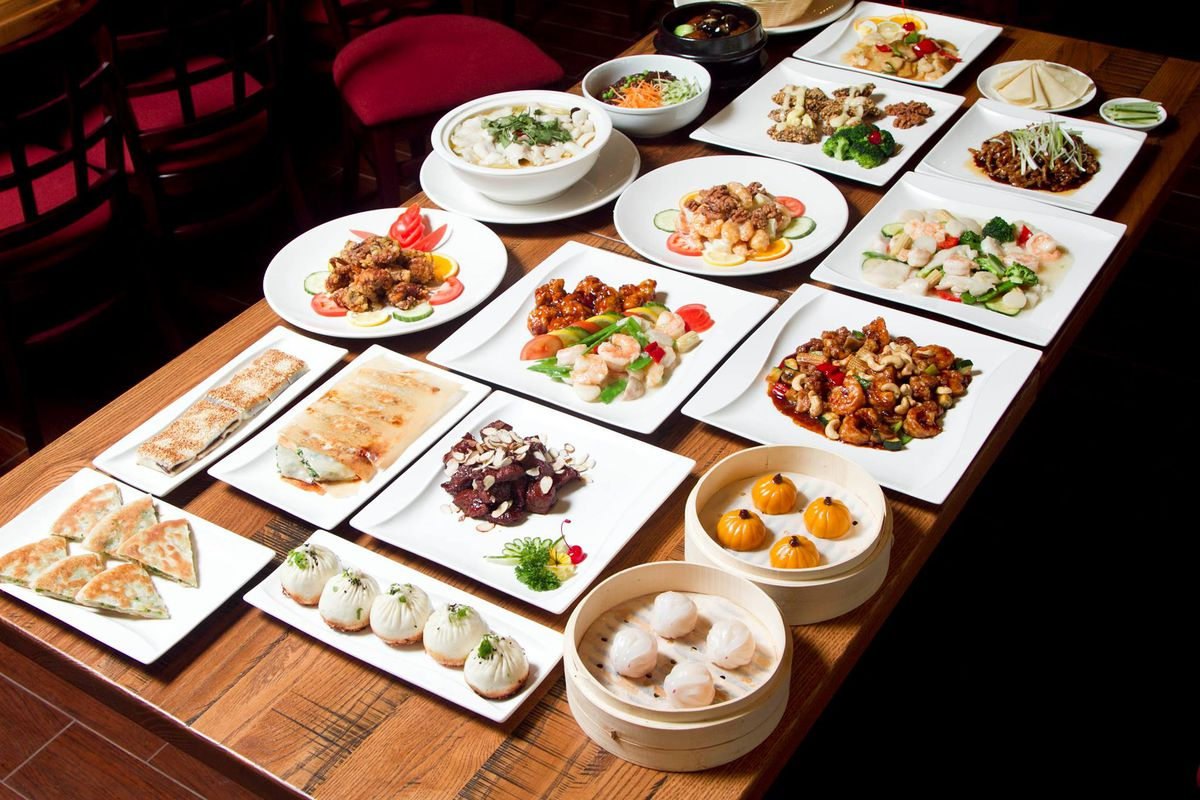 Spread of dishes from Dragon House in Southlake