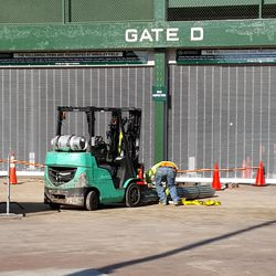 10:48 a.m. Another view of the work outside Gate D -