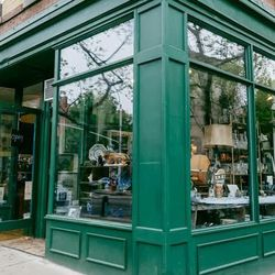 """<b>↑</b> Get the feeling of treasure-hunting at an estate sale without leaving the city at <b><a href=""""http://www.yelp.com/biz/fork-and-pencil-brooklyn"""">Fork + Pencil</a></b> (221 Court Street). You could spend all day in this shop and keep finding more,"""