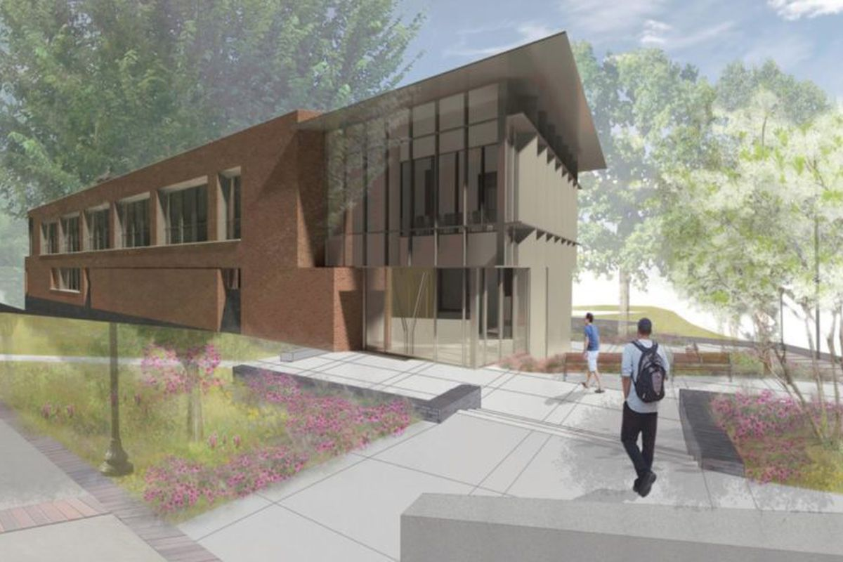 A rendering of the police department's new home.