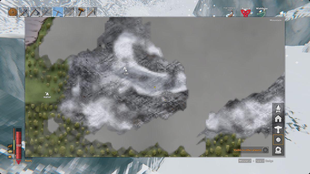 Valheim mountain biome map appearance