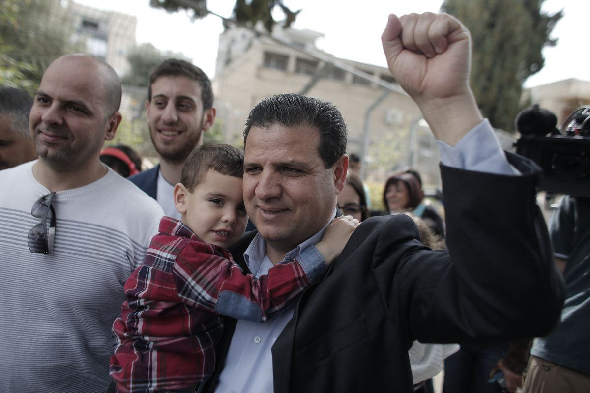 Ayman Odeh, head of the Joint List of Arab parties.