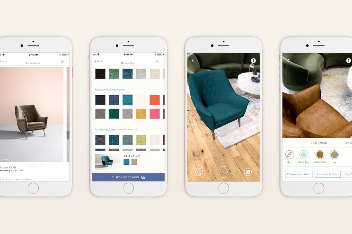 anthropologie smartphone app now features augmented. Black Bedroom Furniture Sets. Home Design Ideas