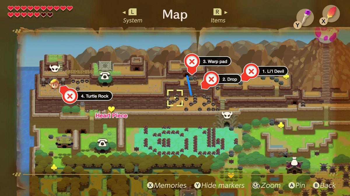 Link S Awakening Turtle Rock Walkthrough And Maps Polygon