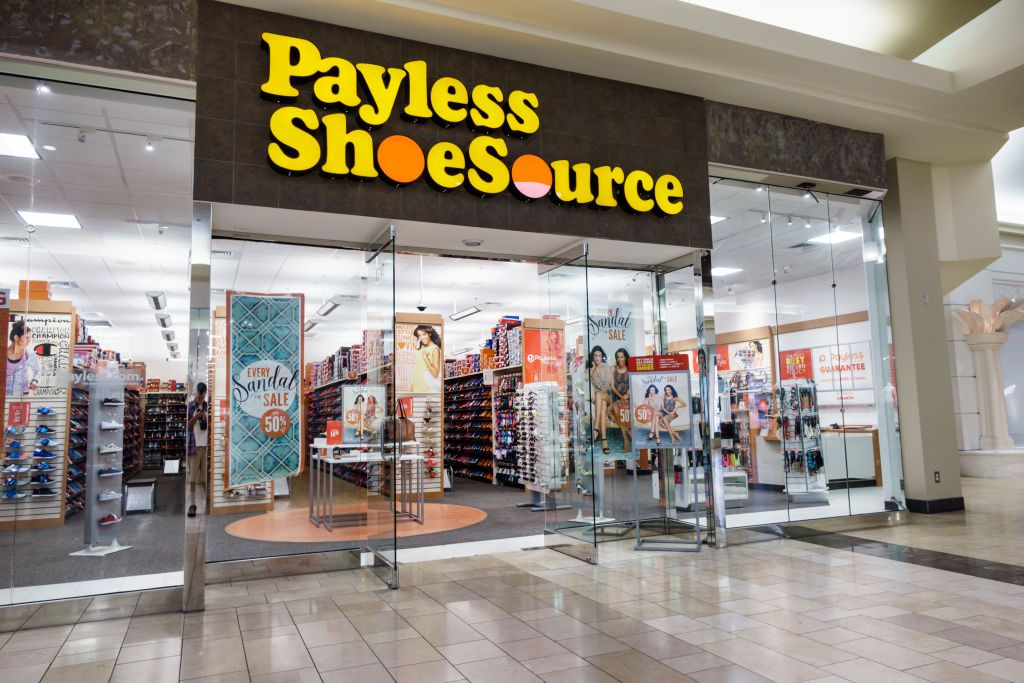 d107281b7 The entrance to Payless ShoeSource at the Coastland Center Shopping Mall.