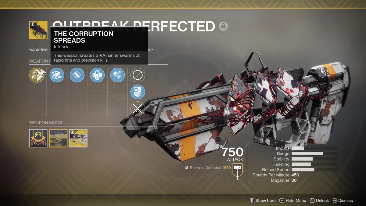 Destiny 2 Outbreak Perfected