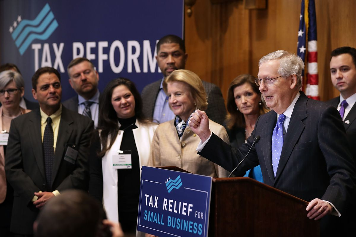 Senate Republicans Hold News Conference On Importance Of Tax Reform