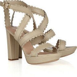 """<a href=""""http://www.net-a-porter.com/product/178954"""">See by Chloe Lizard-effect leather sandals</a> $170 (was $340)"""