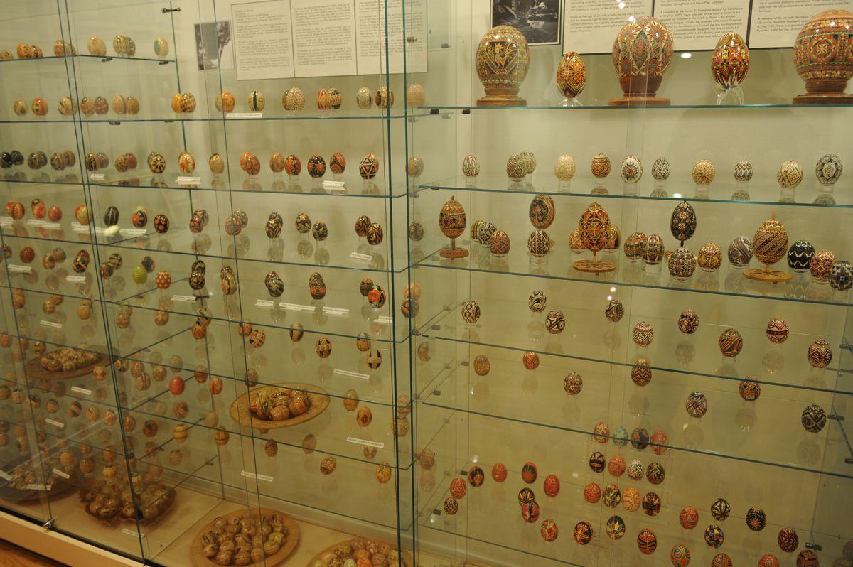 Ukrainian Easter eggs on display at the Ukrainian National Museum of Chicago. | John H. White/ Sun-Times Archives 2011