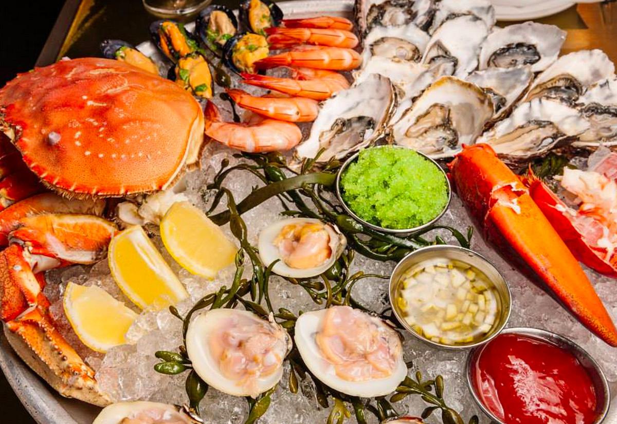 oysters, crab, raw fish, Bar Crudo, SF