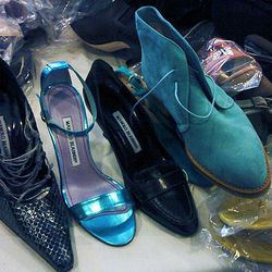 A line-up of shoes